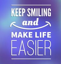 Motivational poster - smile