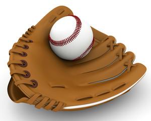 new baseball glove on a white background