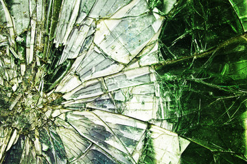Broken glass. Abstract background