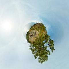 Shore Of Baikal Little Planet 360