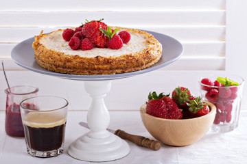 Healthy cheesecake with oats