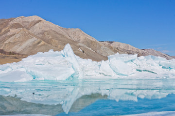 Сoast hummock ice Baikal