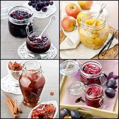 collage-homemade jam