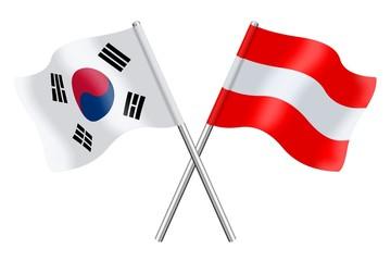 Flags : South Korea and Austria