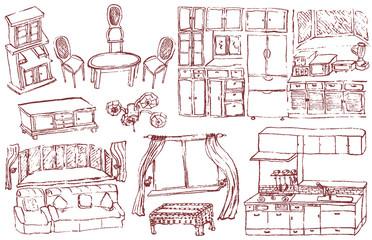家具インテリア リフォーム 広告イラスト