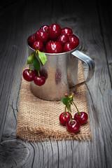 Fresh and tasty cherries