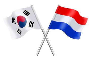 Flags : South Korea and the Netherlands