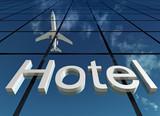 Fototapety sign hotel