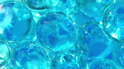 Transparent balls. Translucent abstract loopable background