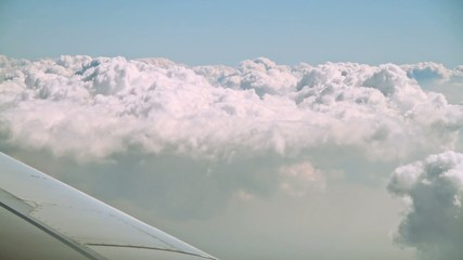 clouds, view from the airplane