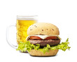 Hamburgher and beer