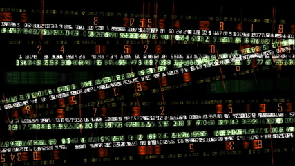 Stock market animation financial numbers background