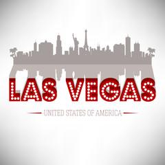 Las Vegas USA skyline silhouette vector design.