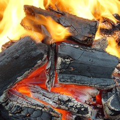 Charcoal Burning in BBQ or in the Fireplace
