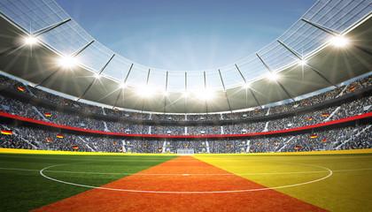 Stadion Deutschland Mittellinie