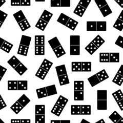Seamless domino background isolated on white