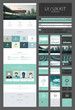 One page website design template, ux/ui kit for website design