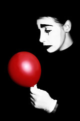 Sad mime performer Pantomime