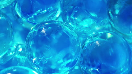Clear translucent balls, abstract loop-able background.