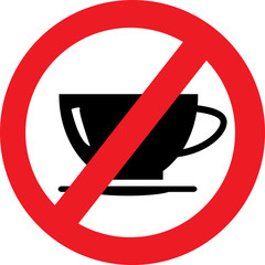 No coffee cup sign