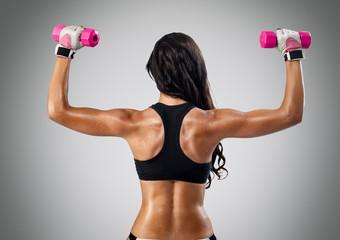 muscular female back