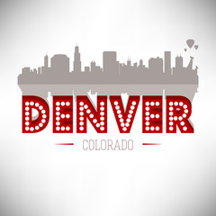 Denver USA skyline silhouette vector design.