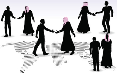 hand shake on business agreement
