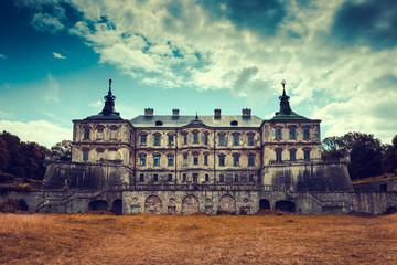 Old stylized Pidhirtsi Castle, village Podgortsy, Renaissance Pa