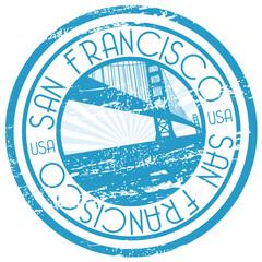 Blue stamp - San Francisco, USA