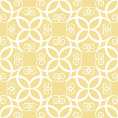 Seamless symmetric white and yellow pattern