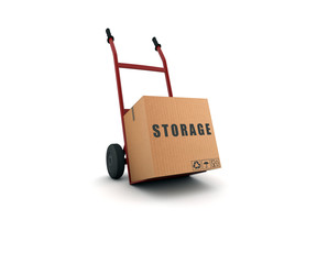 storage - scatolone su carrello