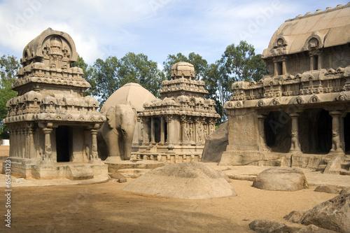 Panch Rathas - Mahabalipuram - India