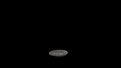 Coin Flip (Polish 20 groszy) with Alpha