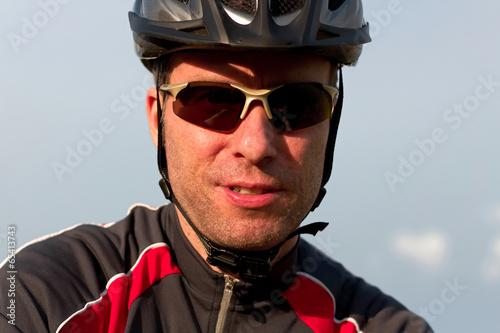 canvas print picture Der Mountainbiker auf Tour 2