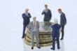 Geschäftsleute, Figuren mit Münzen