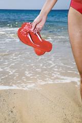 Frau mit Flip-Flops