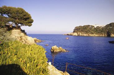 Spanien, Katalonien, Costa Brava, Bucht von Aiguablava
