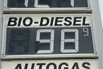 Preisschild Tankstelle, close-up