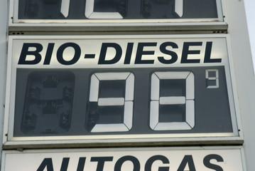 Preisschild Tankstelle, close-up