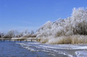 Deutschland, Ammersee im Winter
