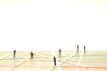 Business-Netzwerk Figuren