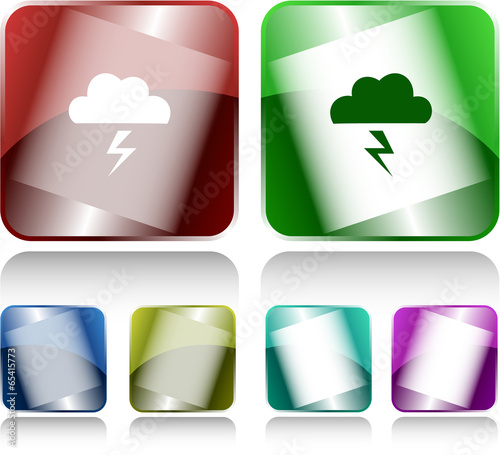 Storm. Internet buttons. Raster illustration.