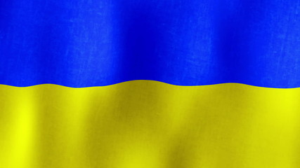 Waving Flag of Ukraine, Fabric, Loopable (Seamless), HD