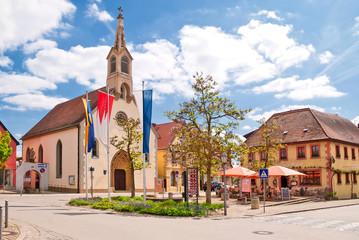 Dorfplatz in der Altstadt von Volkach am Main