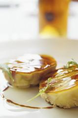 Foie-Gras mit Gelatine süßer Wein, Costa Brava, Katalonien, Spanien