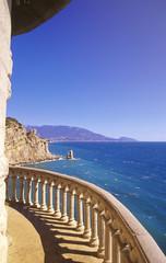 Ukraine, Jalta, Blick auf Seelandschaft
