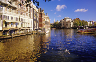 Binnenamstel, Amsterdam, Niederlande