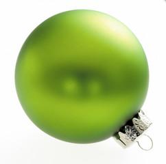 Grüne Weihnachtsbaumkugel
