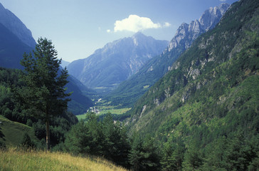 Mangart Berg, Tal Bovec, Slowenien