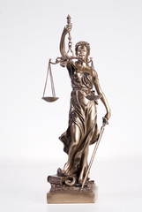 Statue der Gerechtigkeit, close-up Justitia